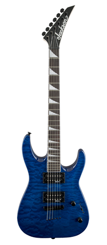 GUITARRA JACKSON DINKY ARCH TOP JS32TQ - 291-0128-586 - QUILTED MAPLE TRANSPARENT BLUE