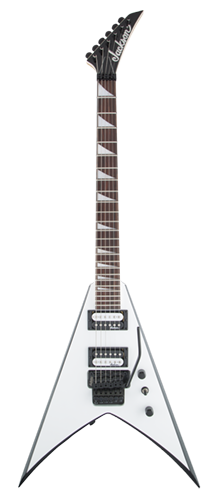 GUITARRA JACKSON KING V JS32 - 291-0224-577 - WHITE W/ BLACK BEVELS