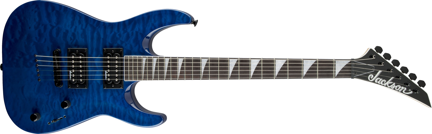 GUITARRA JACKSON DINKY ARCH TOP 291 0127 - JS32TQ - 586 - QUILTED MAPLE TRANSPARENT BLUE