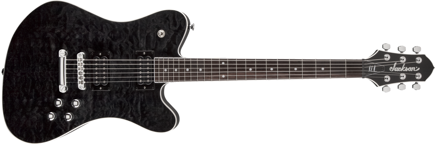 GUITARRA JACKSON SIGN 291 0606 - MARK MORTON DOMINION DX2 - 585 - TRANSPARENT BLACK