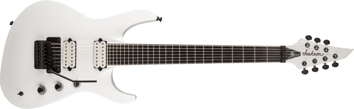 GUITARRA JACKSON SIGN 291 3057 - BRODERICK SOLOIST 7 - 576 - SNOW WHITE