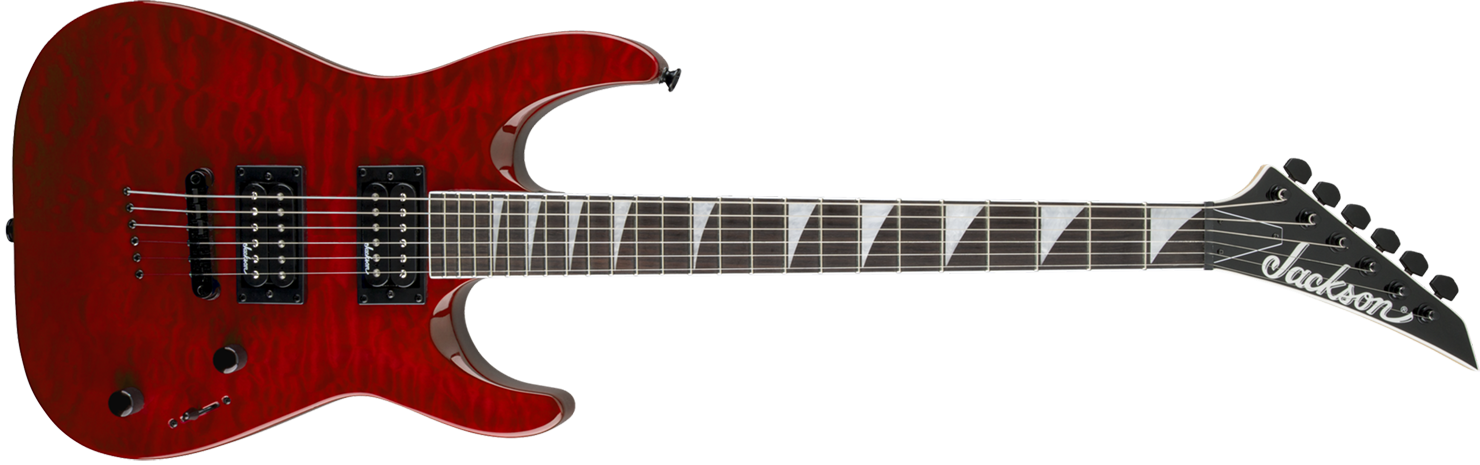 GUITARRA JACKSON DINKY ARCH TOP JS32TQ - 291-0128-590 - QUILTED MAPLE TRANSPARENT RED