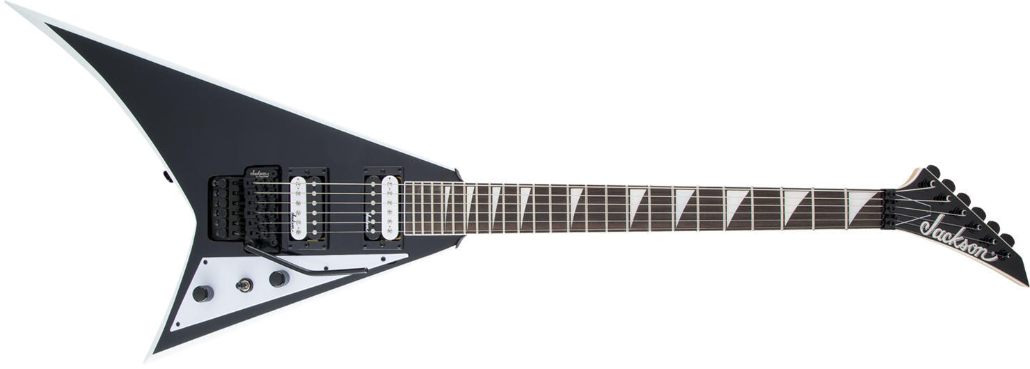 GUITARRA JACKSON RANDY RHOADS JS32 - 291-0137-572 - BLACK WITH WHITE BEVELS